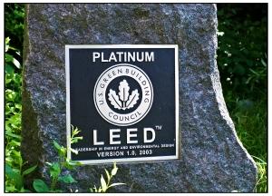 Platinum LEED sign