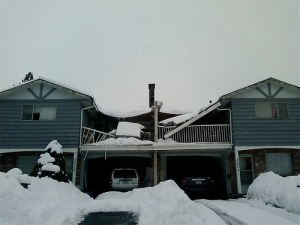 snow collapses roof deck