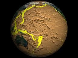 globe showing earthquake activity
