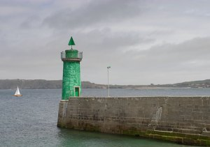 design of green lighthouse in France