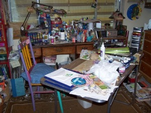 construction of a messy room