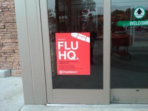 Flue HQ sign