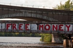 free money bridge sign